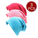 Opromo 3 Pack Unisex Soft Cotton Beanie Sleep Cap Chemo Hat for Hairloss, Cancer