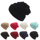 Opromo Oversized Baggy Thick Winter Beanie Hat Chunky Cable Warm Wool Knit Cap