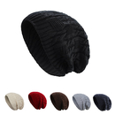 Opromo Unisex Trendy Warm Slouchy Knit Oversized Long Beanie Cap Winter Ski Hat