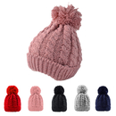 Opromo Women's Winter Warm Knitted Beanie Cap with Pom Pom Cable Knit Skull Hat