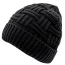 Opromo Men's Winter Fleece Lined Knitting Skull Cap Wool Warm Slouchy Beanie Hat