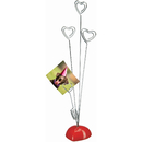 Officeship 5 PCS Picture Stand, 4 Clips Heart Photo Holder Card Note Memo Clip Tree Place Cards Holder