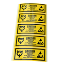 "(Price/125 Labels) Officeship 4.5""x 1.75"" Static Warning Labels ""Caution - Electrostatic Sensitive Devices"""