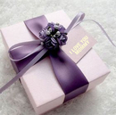 Mother's Day Personalized Elegant Purple Flower Gift Box with Custom Tag, 2.76