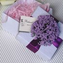 "Custom Elegant Flower Wedding Favor White Box with Tag, 2.56""L*2.56""W*1.58""H"