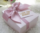 Mother's Day Wonderful Small Pink Bowknot Box with Custom Tag, 2.76