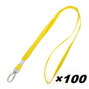 Officeship Thin Lanyard with Swivel Snap Hook for ID Cards /Badges, 3/8
