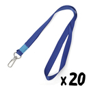 Officeship Lanyard with Tough Swivel Snap Hook for ID Cards /Keys, 1/2