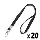 Officeship Lanyard with Swivel Snap Hook for ID Cards /Badges, 1/2