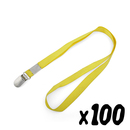Officeship Lanyard with Suspenders Clip, Great for ID Card Holders, 1/2