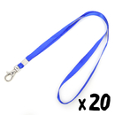 Officeship Thin Lanyard with Swivel Lobster Clasp for Cards /Badges, 3/8