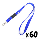 Officeship Detachable Lanyard with Swivel Lobster Clasp, 1/2