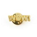 (Price/100PCS) ALICE Cast Motivational Lapel Pins - Wow, 1