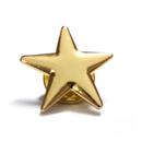 (Price/50PCS) ALICE Gold Star Lapel Pin, Size 3/4