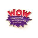 (Price/100PCS) ALICE WOW Lapel Pins, Wonderful Outstanding Worker Award,  1