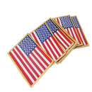(Price/6 PCS)ALICE American Flag Iron On Embroidered Emblems Patch, 2.75