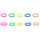 (Price/50 Pcs) GOGO Embossed Star / Love Heart Silicone Wristband,  Rubber Bracelets,Party Favors,  8