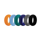(Price/30 Pcs) GOGO Premium Man's Silicone Wedding Rings - 9 mm Wide(3 mm Thick)  Flexible Wedding Bands - Great for Sports or Outdoors