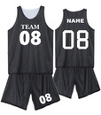 Blank Mesh Basketball Jersey and Shorts, For Adult - S-2XL
