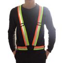 Blank GOGO Cycling Safety Reflector Belt Night Riding Cycling Safety Vest