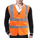 Blank GOGO Traffic Safety Vest With Reflective Tape, Gardener Reflective Vest