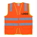 Custom GOGO Industrial Safety Vest With Reflective Strip, Mesh Safety Vest