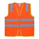 Blank GOGO Industrial Safety Vest With Reflective Strip, Mesh Safety Vest