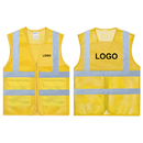 GOGO Custom Adult Mesh Volunteer Vest High Visivility Zipper Front Safety Vest with Reflective Strips and Pockets