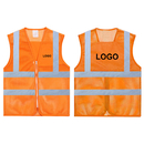 GOGO Custom Adult High Visibility Zipper Front Breathable Safety Vest, Mesh Volunteer Activity Vest with Reflective Strips