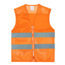 GOGO Blank Adult High Visibility Zipper Front Mesh Volunteer Safety Vest with Reflective Strips