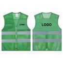 GOGO Custom Kid's Mesh Reflective Vest For Outdoors Sports, Running Safety Volunteer Vest with Zipper