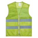 GOGO Blank Kid's Mesh Reflective Vest For Outdoors Sports, Running Safety Volunteer Vest with Zipper