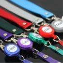 Custom Round ID Badge Holder Reel with Hook and Lanyard, Silk Printing