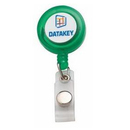 Custom Dura Panel Badge Holder with Reel, 4-Color Process, 1 1/4