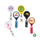 Custom Jumbo Round Badge Reel: (Pad Printing), 1 1/2