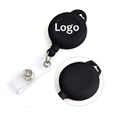 Customized Round Key Badge Reel With Holder Pad Print Method