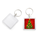 Aspire Custom Acrylic Photo Keychains Square, 1-1/2 Inch Wide