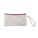 Aspire DIY Canvas Pouch with Zipper, 12Oz Nature Cotton Canvas Bag with Wristlet Strap