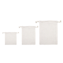 Aspire DIY Natural Burlap Bags with Drawstring, Linen Favor Bag - 3 Sizes