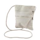Aspire DIY Canvas Cross Body Pouch for Kids, Shoulder Zipper Purse, Blank Travel Bag