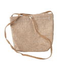 Aspire Natural Burlap Shoulder Bag, Favor Bag Pouch With Strap, 7 1/2 x 6 5/16 Inch