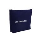 Aspire Custom Canvas Makeup Pouch, Flat Bottom Zipper Bag for Cosmetics - 2 Sizes