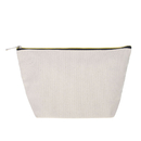 """Aspire Chic DIY Canvas Zipper Bag, 8"""" x 3 3/4"""" Suede Lining Pouch for Jewellery"""