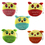 """Aspire Cartoon Owl Zipper Purse with Ball Chain, 4"""" Plush Toy, Party Decoration"""