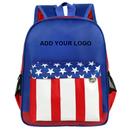 Aspire Custom Kid Backpack, Patriot Style Travel Backpack for Children