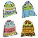 Aspire 100-Piece Tribal Style Drawstring Gift Bags, 4 x 5 1/2 Inch Jewelry Bags