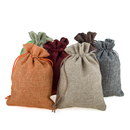 Aspire Burlap Drawstring Pouches, DIY Jute Wedding Bag, 3 Sizes