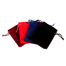 Aspire Jewelry Gift Bags, Blank Velvet Drawstring Party Favor Pouches - 2 Sizes