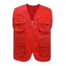 Custom Supermarket Volunteer Activity  Twill Vest Outdoor Multi-pocket Waistcoat Vest For Adult & Kids
