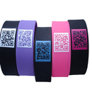 GOGO Customized Wide Silicone Bands with QR Code, 1 inch Rubber Bracelets